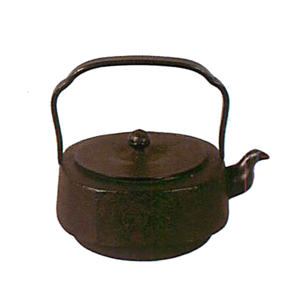 南部鉄器 鉄瓶 平丸四方 1.3L C01-03
