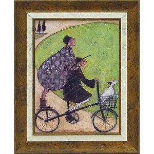 壁掛け飾り 絵画 お祝い 記念品 おしゃれ かわいい ST-05814 /サム トフト 「二人乗り」 ST-05814