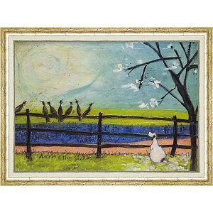 壁掛け飾り 絵画 お祝い 記念品 おしゃれ かわいい ST-16009 /サム トフト 「ドリスと鳥たち」 ST-16009