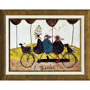 壁掛け飾り 絵画 お祝い 記念品 おしゃれ かわいい ST-08017 /サム トフト 「バイクフル!」 ST-08017