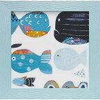 壁掛け飾り 絵画 お祝い 記念品 おしゃれ かわいい AD-04003 /アン デイヴィス 「ファニー フィッシュ」 AD-04003