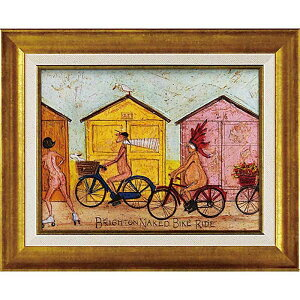 壁掛け飾り 絵画 お祝い 記念品 おしゃれ かわいい ST-05820 /サム トフト 「はだかでサイクリング」 ST-05820