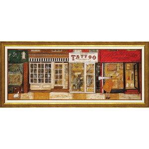 壁掛け飾り 絵画 お祝い 記念品 おしゃれ かわいい ST-15014 /サム トフト 「あなたの住む街角で」 ST-15014