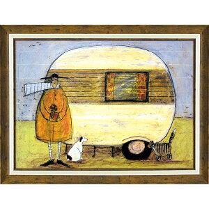 壁掛け飾り 絵画 お祝い 記念品 おしゃれ かわいい ST-16025 /サム トフト 「ホーム フロム ホーム」 ST-16025