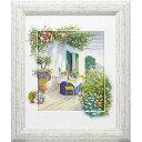 壁掛け飾り 絵画 お祝い 記念品 おしゃれ かわいい /ピーター モッツ 「ベランダ イン ブルーム1」 PM-12036