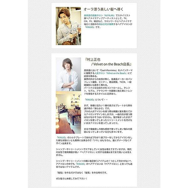 ヘアアイロン KINUJO W -worldwide model- キヌージョ ワールド ストレートヘア 海外兼用 シルクプレート 最高220℃ 【ギフト対応不可】