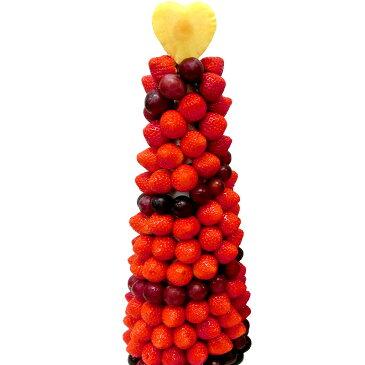 [ギフトパーク]フルーツケーキ【いちごタワーBIG】誕生日ケーキより珍しい喜ばれる フルーツフラワー サプライズプレゼント 誕生日 プレゼント フルーツタワーケーキ バースデーケーキ 果物詰め合わせ カットフルーツ盛り合わせ いちご イチゴ 苺 フルーツギフト 送料無料