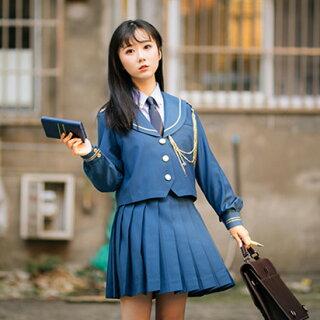 DreamSwing冬服セーラー服青ブルー女子高生JK制服大きいサイズアウタージャケットレディースファッションLJKJ01れのPのおすすめ
