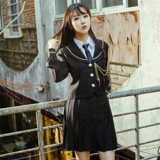 DreamSwing冬服セーラー服黒女子高生JK制服大きいサイズアウタージャケットレディースファッションLJKJ02-1れのPのおすすめ