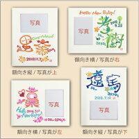 ネイムーンフォトフレーム付Sサイズ出産祝いギフト/記念品/内祝い/額向き
