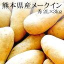 熊本県産じゃがいも(メークイン) 2Lx3kg[使いやすい量]【野菜便...