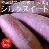 茨城県産シルクスイート 2L×2kg A等級 [高糖度 さつまいも 野菜便 常温便 送料無料]
