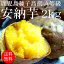 2017年 鹿児島種子島産 安納芋(A等級)2kg S?L[使いやすい量]【野菜便】【常温便】【送料無料】【代引き不可】