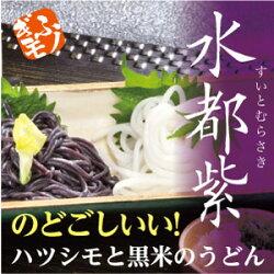 ハツシモと黒米のうどん水都紫