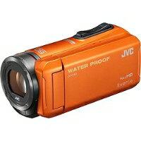 【★★】【送料無料】VICTOR(ビクター)GZ-R300-DSD対応32GBメモリー内蔵5m防水・防塵・耐衝撃フルハイビジョンビデオカメラ(オレンジ)