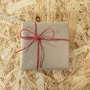 《ギフトラッピング》クラフト紙+赤色リボン(※熨斗非対応)