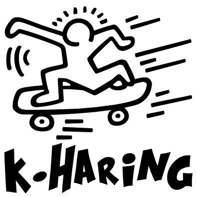 キース・ヘリングステッカー注目度抜群♪カッティングステッカーおもしろステッカーの神髄★落書きステッカーステッカー車ステッカー車用ストリートアートデザインポップキースヘリングコレクション