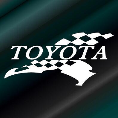 かっこいいフラッグエンブレムステッカートヨタTOYOTA枠サイズ:5cm×10cm(左向き)レーシングステッカー車用ステッカーカー用品バイク用品デカールカーステッカーかっこいいドレスアップ