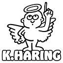 キースへリング 幸運を呼ぶ天使 ステッカー 車 アウトドア お...