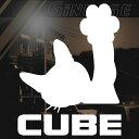 日産 キューブ CUBE 車 ステッカー 猫 ステッカー サイズ:15...