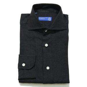 BARBA(バルバ)DANDY LIFE NEW BRUNOリネンソリッドカッタウェイワイドカラーシャツ0000/10