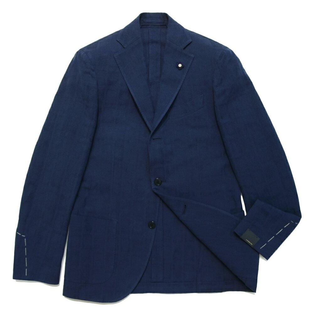 【SALE30】LARDINI(ラルディーニ)コットンリネンウインドーチェック3Bジャケット JI526AQ/RP46596 17061024022:ginlet(ジンレット)