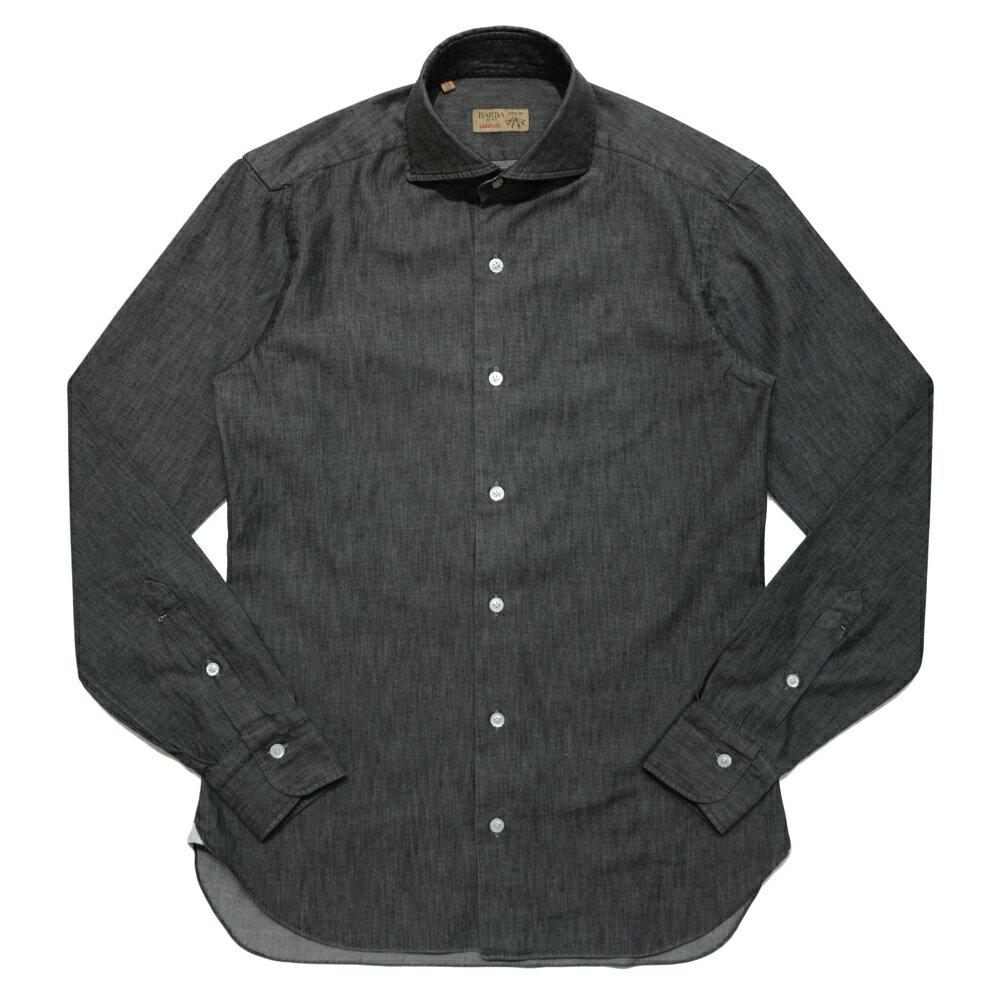 BARBA(バルバ)DANDY LIFE NEW BRUNO コットンダンガリーカッタウェイワイドカラーシャツ R54 11061025022:ginlet(ジンレット)