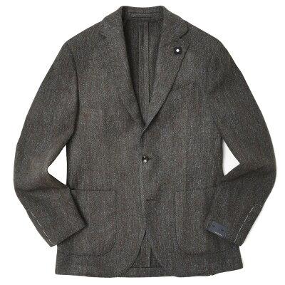 LARDINI(ラルディーニ) ツィードヘリンボーン3Bジャケット