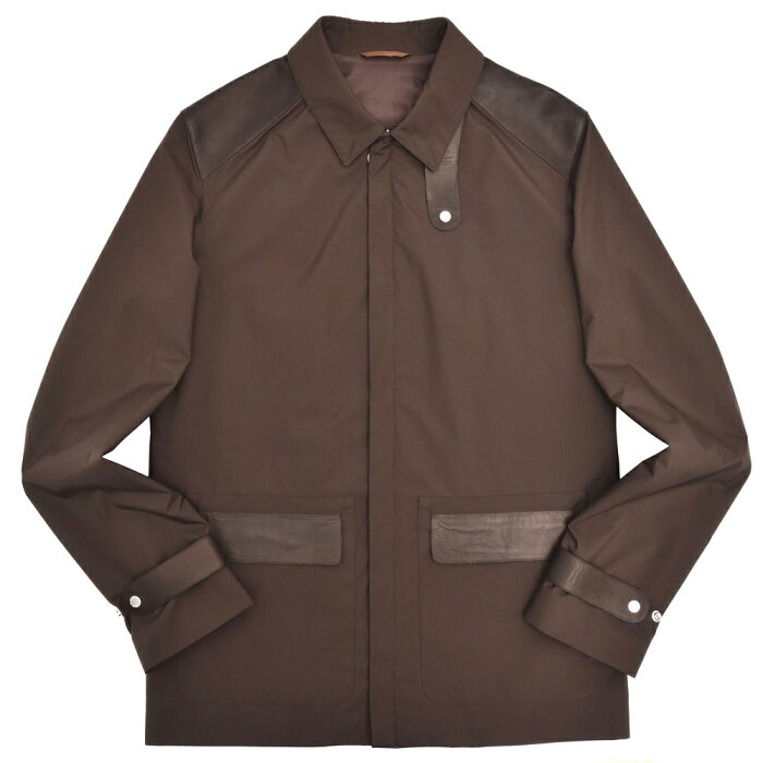 SERAPHIN(セラファン)ナイロン×ラムレザージップアップジャケット EXCELSIOR 14281001025