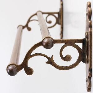 ダブルタオルバーRN-65-AN真鍮ルネサンス