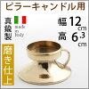 手付き燭台キャンドルスタンドフォルダーピラーキャンドル用高級燭台イタリア製真鍮雑貨・ローソク立てピラーキャンドル対応