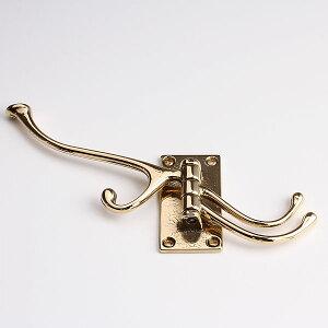 真鍮装飾タオルコートフックPB4連回転フックJKF510-PB