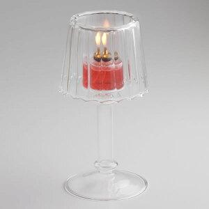 オイルランプ・ガラス替芯付ガラスキャンドルオイルランプBURNERWORKホテルレストランカンテラ燭台OLC-55
