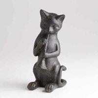 猫の演奏家・トランペット「ねこのトランペッター」ブラスバンド・オーケストララッパ吹きの猫文鎮