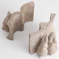 かわいいうさぎオブジェ「うさぎのブックエンド」ピータラビットのようなウサギたちの本立て