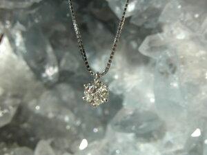 【新品仕上げ済み】プラチナ一個石1.05ctダイヤモンドネックレス【ジュエリー】【】