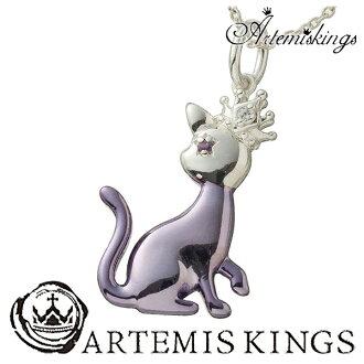 AK 動物魅力項鍊 (Kat) 貓男士項鍊女士男士項鍊女士男士婦女項鍊銀項鍊男士項鍊男士項鍊