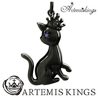 供供供AK動物迷人項鏈(黑頁岩)貓貓黑猫人項鏈女士Mens Necklace Ladies男性使用的女性使用的項鏈銀子項鏈人項鏈男性使用的項鏈