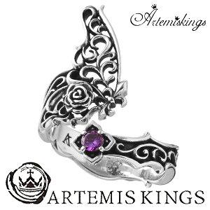 【送料無料】【ArtemisKings/アルテミスキングス】パピヨンローズリングメンズリングレディース男性用女性用銀指輪ゆびわSILVERMensLadiesRing【メール便OK】【ギフトOK】メンズリング男性用指輪