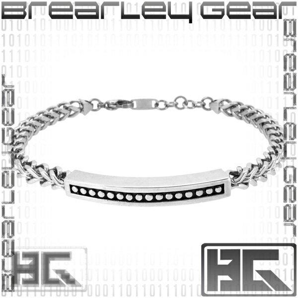 Brearley Gear プレート チェーン サージカルステンレス ブレスレット ステンレスアクセサリー メンズ 男性用 金属アレルギー 金属 フリー メンズブレスレット ブランド プレゼント 人気 彼氏 おしゃれ