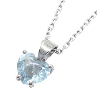 心形切割藍寶石項鍊銀天然石石女士項鍊三月誕生石吊墜女士項鍊吊墜女生項鍊海藍寶石女士項鍊項鍊女士。