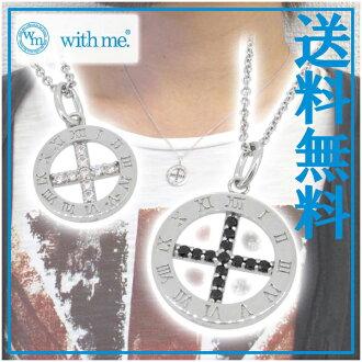 鐘十字銀雙項鍊銀飾品男士的女士項鍊匹配項鍊雙項鍊 SV925 氧化鋯饋贈的禮品品牌男士項鍊男式項鍊