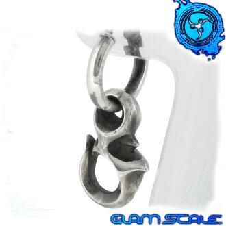 [GLAM SCALE克規模]供LP-003丢失的一銀子鐵環無環耳環(1P一個耳朵用)銀子925銀子鐵環無環耳環環無環耳環人人無環耳環lp003[禮物OK]人無環耳環男性使用的無環耳環