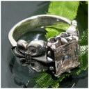 ジルコニア リリーデザイン シルバーリング 17〜23号 指輪 リング Ringメンズ レディース 男性女性指輪 プレゼント 人気 かわいい おしゃれ 1