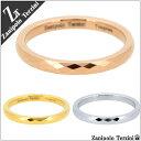 Zanipolo Terzini ダイヤ形カット ゴールド ノーマル ピンクゴールド タングステン リング 3〜11号 レディース ピンキーリング 女性 指輪 レディースリング レディース指輪 プレゼント 人気 かわいい おしゃれ