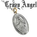 ★送料無料★【CrazyAngel】不思議のメダイブラックダイヤモンドステンレスネックレス