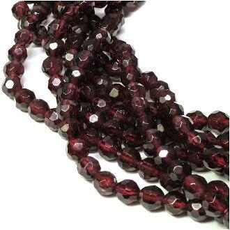 [郵件班次160日圆][石榴石4mm]天然的石頭有孔玻璃珠(cut)20硬幣安排天然石頭粒出售功率斯通石榴石1月生日寶石零賣二-零件石榴石[禮物OK]天然石頭有孔玻璃珠beads天然石頭零件