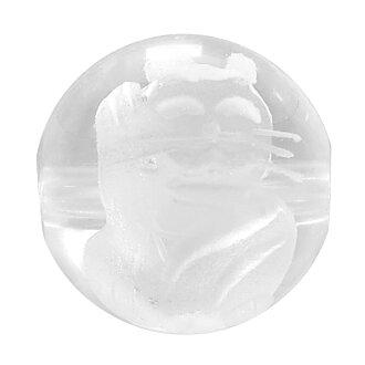 [郵件班次160日圆][招財貓手雕刻水晶10mm]天然的石頭有孔玻璃珠(圓的球)2硬幣安排功率斯通零賣天然石頭粒出售水晶二-零件財運招財貓天然石頭有孔玻璃珠天然石頭零件禮物人氣[禮物OK]