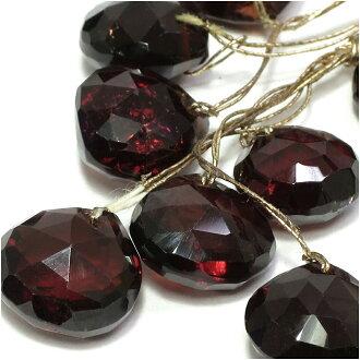 [郵件班次160日圆][石榴石8*8mm]天然的石頭有孔玻璃珠(栗子cut)1硬幣出售天然石頭粒出售功率斯通零賣石榴石1月生日寶石二-零件石榴石[禮物OK]天然石頭有孔玻璃珠beads天然石頭零件