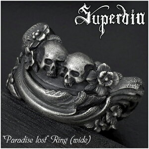 Superbia \ Paradise \ Ring (wide) No. 11 to No. 27 Paradise lost Silver ring Silver 925 Men's Spervia Spervia brand Rococo Baroque Skull Antique Jewelry dark decadence aesthetic sculpture modeling art bible genesis adam eve present popular fashionable
